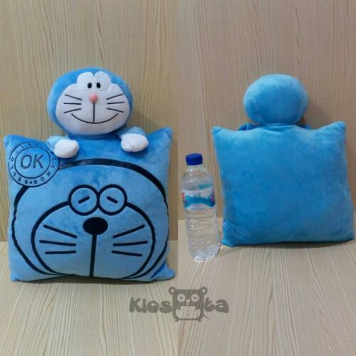 bantal sablon doraemon