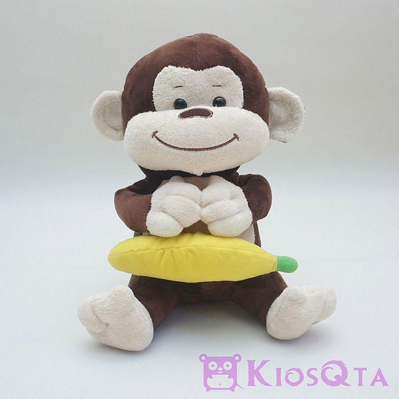 Gambar Monyet Bawa Pisang Boneka Binatang Boneka Monyet Coklat Bawa Pisang Medium Aug