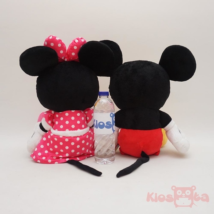 boneka couple mickey and minnie mouse sitting original disney