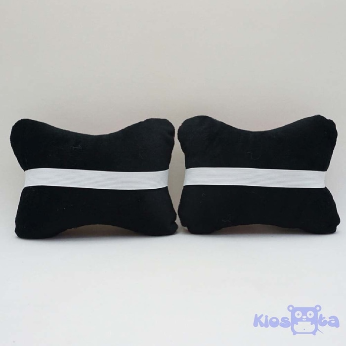 Bantal tulang headrest mobil mickey mouse