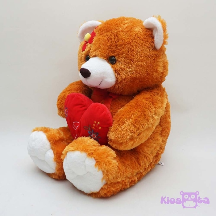 boneka beruang teddy bear i love you bunga coklat jumbo