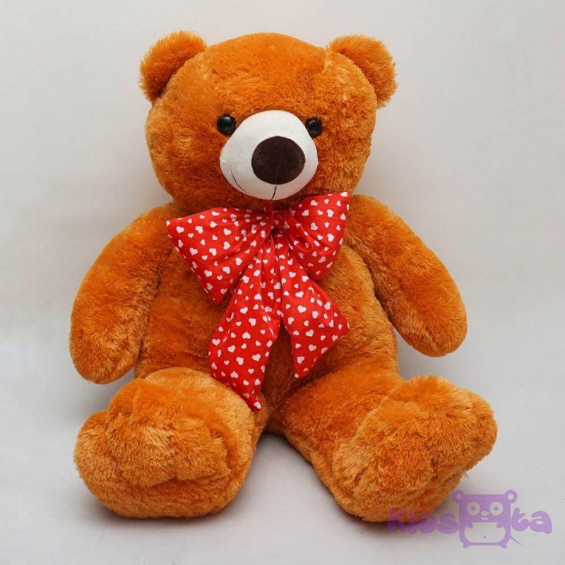 Boneka tedy bear beruang coklat orange dasi polkadot jumbo 1 meter . e02b41d907